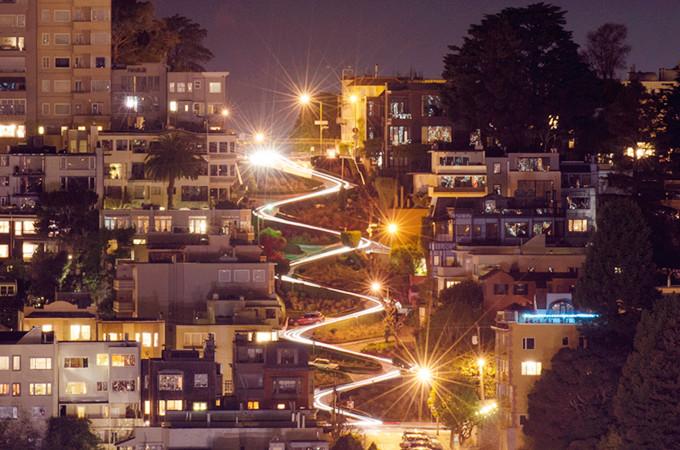 第1日 旧金山 → 鸽子角灯塔 → 圣克鲁斯 → 海濑点 → 蒙特雷 第2日