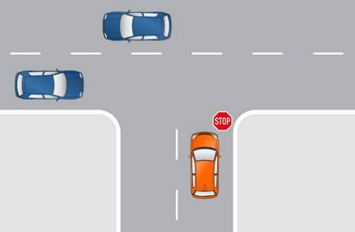 STOP 標誌 one way stop